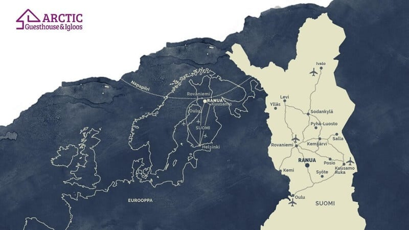 Ranua location map