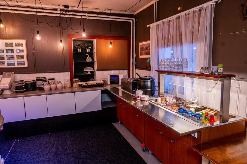 Arctic Guesthouse & Igloosin ravintolan aamiaislinjasto Ranualla