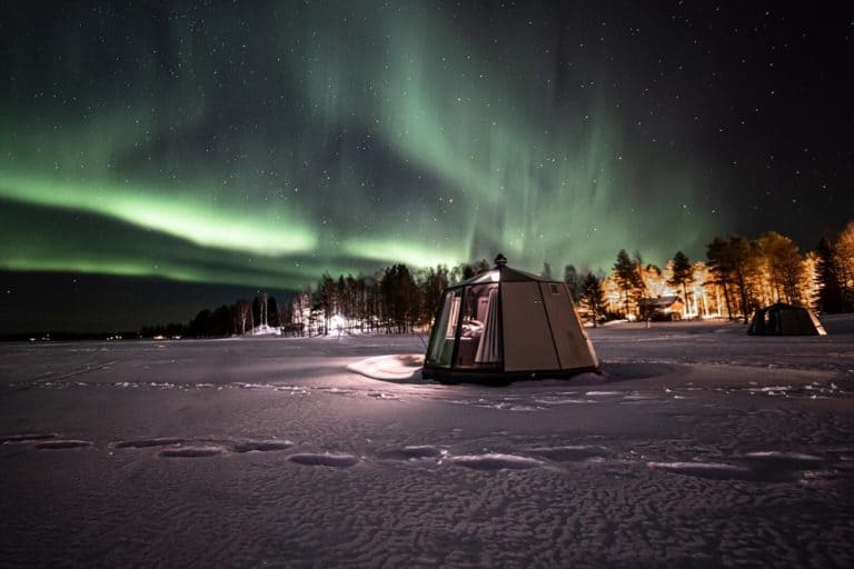 Glass igloo to see the Northern lights in Ranua, Finnish Lapland - Arctic Guesthouse & Igloos
