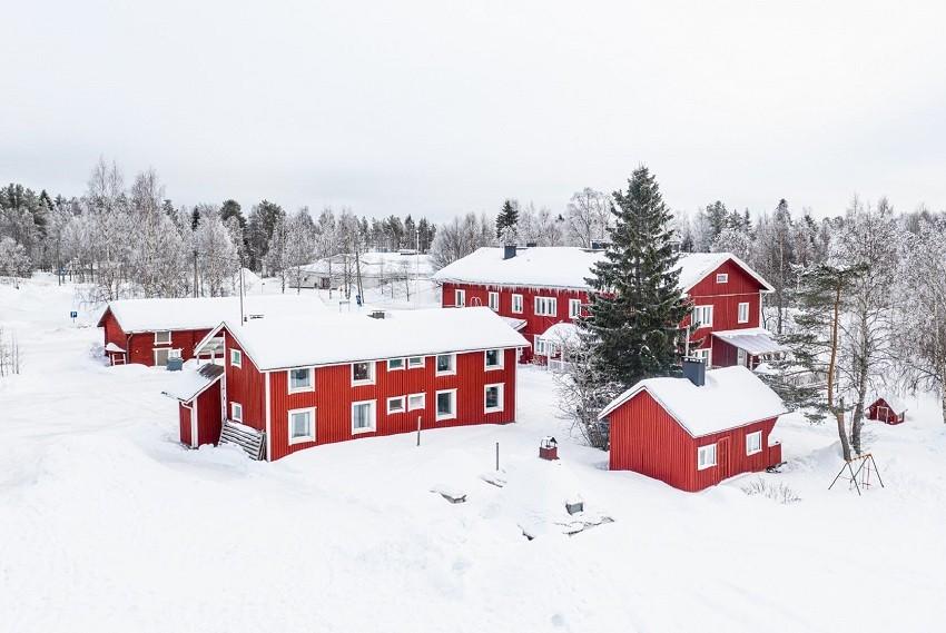 Arctic Guesthouse & Igloos - Gasthaus Ranua ulkokuva talvella 2020