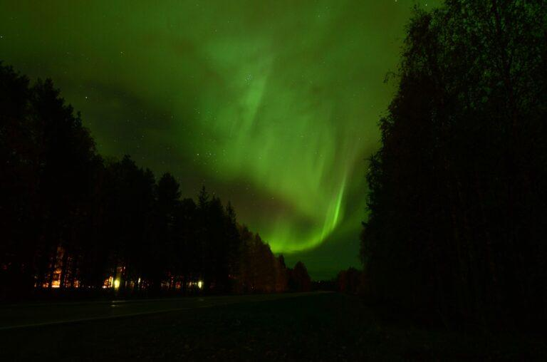 Northern lights in Finnish Lapland in September