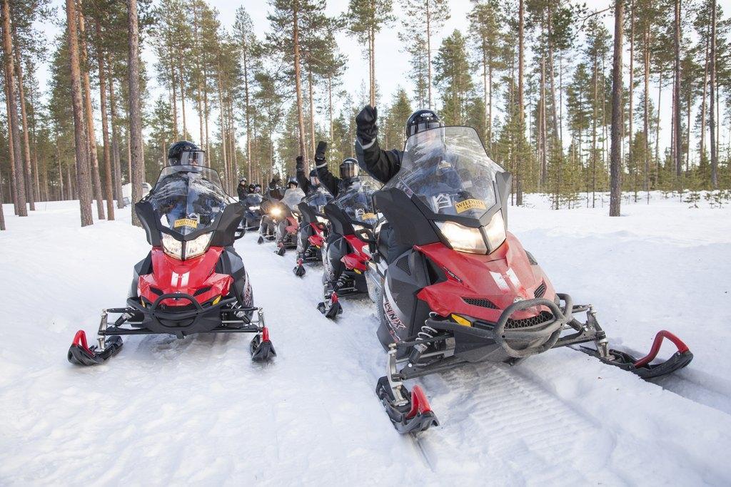 Snowmobile safari in Ranua