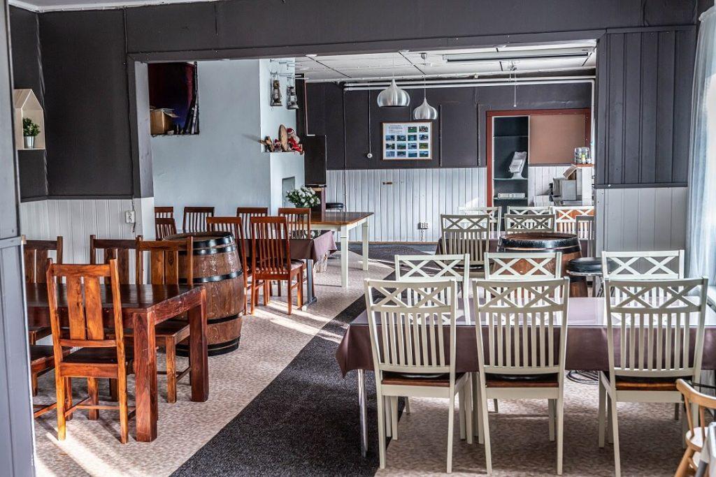 Arctic Guesthouse & Igloosin ravintolan sisätilat