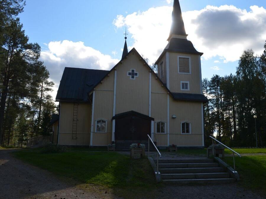 The church of Ranua pictured in autumn 2021