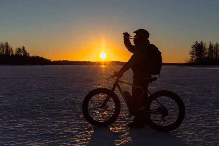 Ohjattu fatbike-retki Ranualla talvella