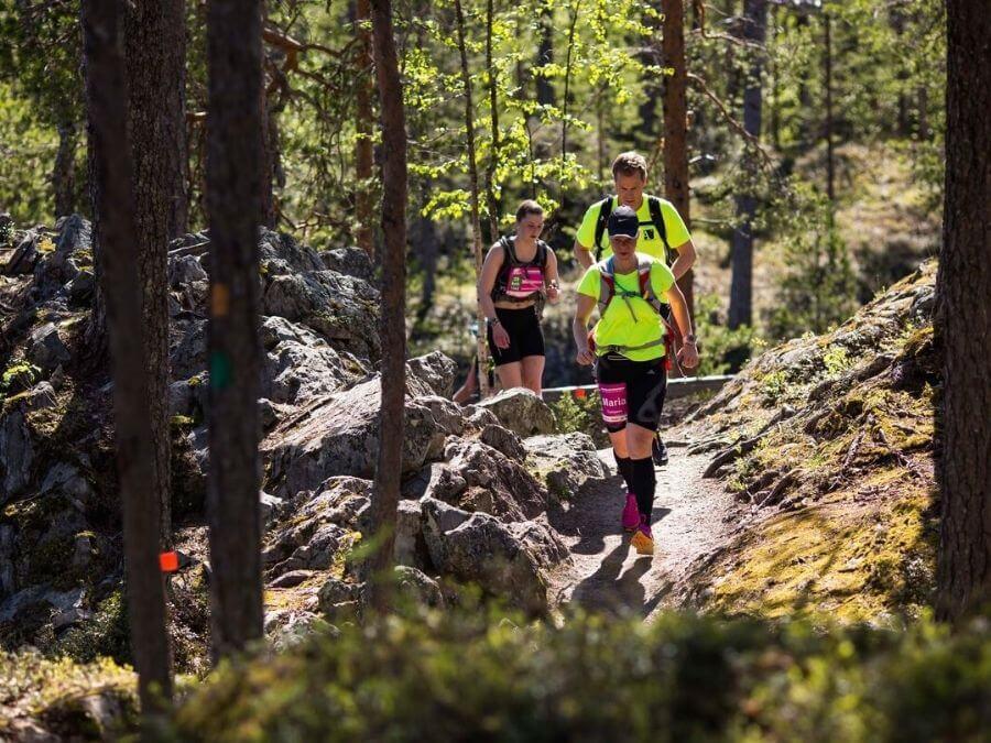 The hiking rail in Kuusamo's Karhunkierros