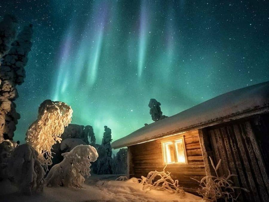 Northern lights in Ranua, Finnish Lapland