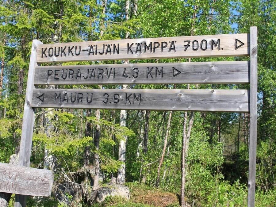 Koukkuäijän polku Maurun ja Peurajärven välillä