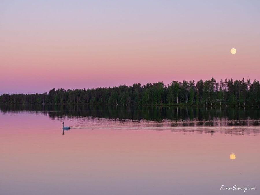 Kaunis järvimaisema Ranualla