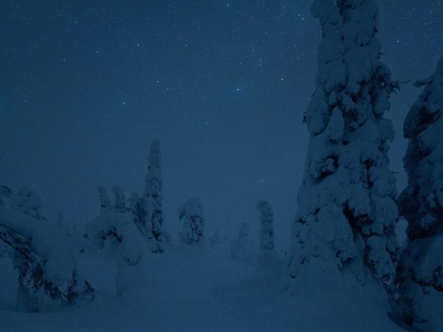 Polar night in Finnish Lapland